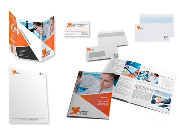 Diseño y producción de papelería corporativa para FDM