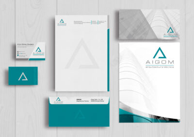 Dieño y producción de set de papelería para Aitor Gómez